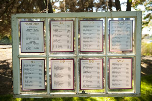 Table and seating charts mt hood organic farms weddings seat assignment by name junglespirit Image collections