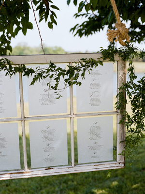 Windows With Paper Seating Assignments